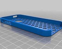Iphone 5 Honeycomb Case 3D printable model