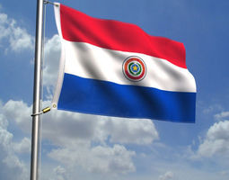 3D Paraguay Flag Animated