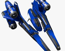 3d model bluefighter