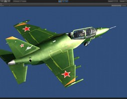 3D model Yakovlev Yak-130 trainer military jet