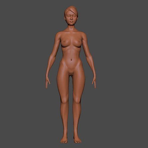 woman basic 3d model obj ma mb ztl mtl 1