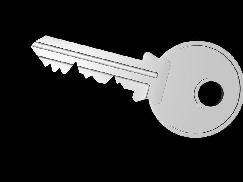 ... door key 3d model c4d 3 & 3D Door key | CGTrader