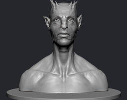 3d printable model creature bust