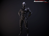 scifi-trooper lowpoly rigged 3d model low-poly rigged max obj fbx 1