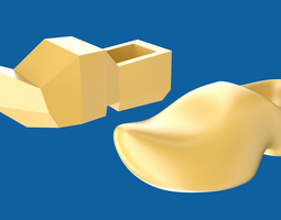 clog or wooden shoe 3d model game-ready