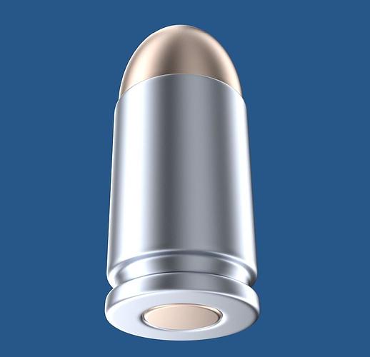 bullet 3d model obj blend 1