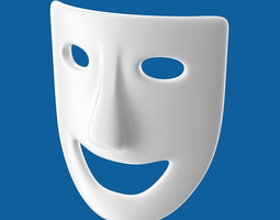 3d theatre play laughing mask