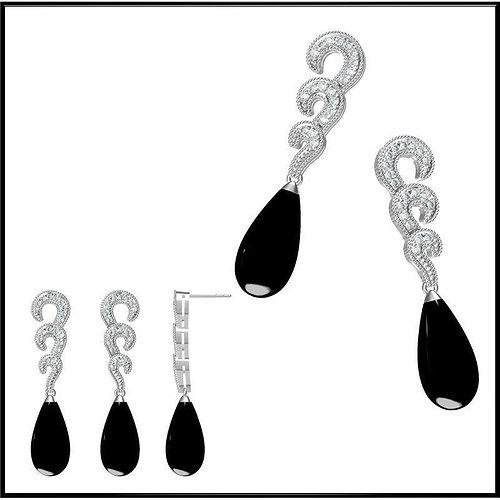 3d model diamond earring 23 cgtrader Diamond Earrings Product