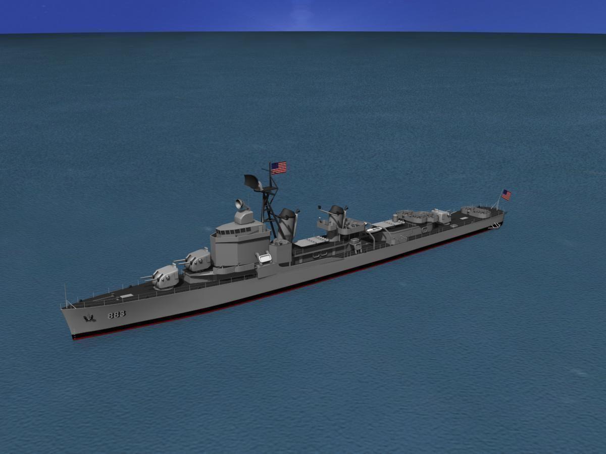 Gearing Class Destroyer DDR-883 USS Newman K Perry