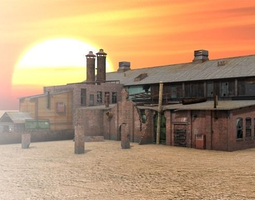 Abandoned Train Station 3D