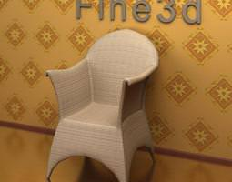 wicker armchair 09-067 3d model