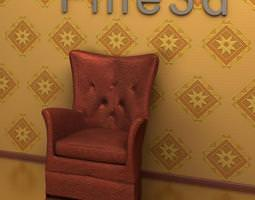 3d model antique chair 09-070