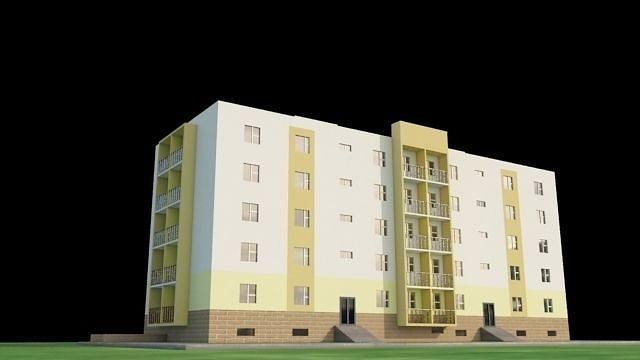 apartment 3d model low-poly max obj mtl 3ds fbx dxf tga 1