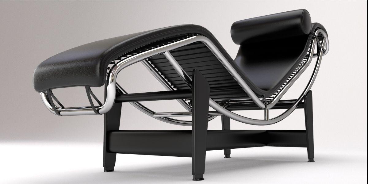 Lc4 Chaise Lounge Design By Le Corbusier Model Fbx Blend 7