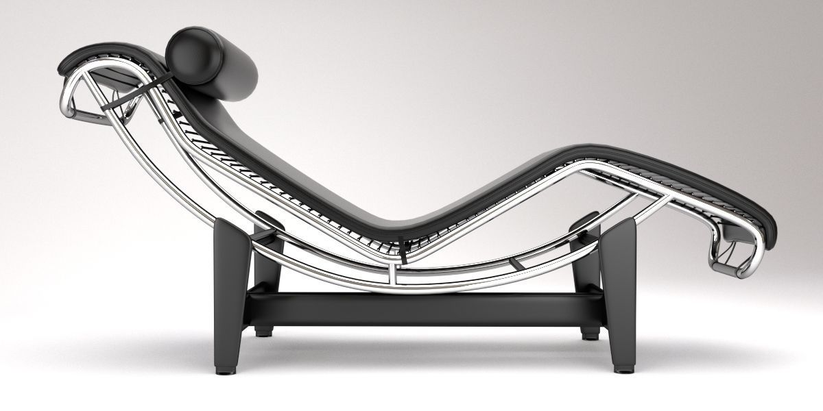 Lc4 chaise lounge design by le corbusier 3d model blend for Chaise longue le corbusier ebay
