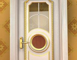 antique door 09-01a 3d model