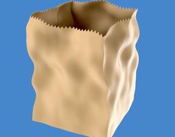 3d paper grocery bag