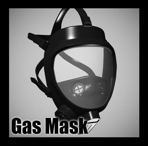 gas mask 3d model max obj mtl 3ds fbx stl 1