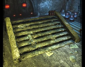Stone staircase 3D asset
