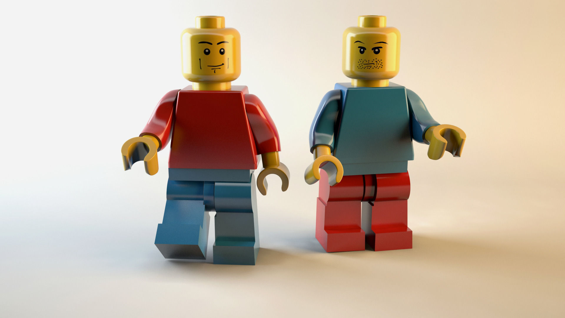 Lego man 3D Model MAX OBJ | CGTrader.com