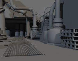 3d asset game environment  realtime