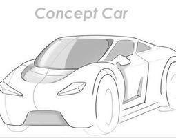 3D asset Car RC Protype