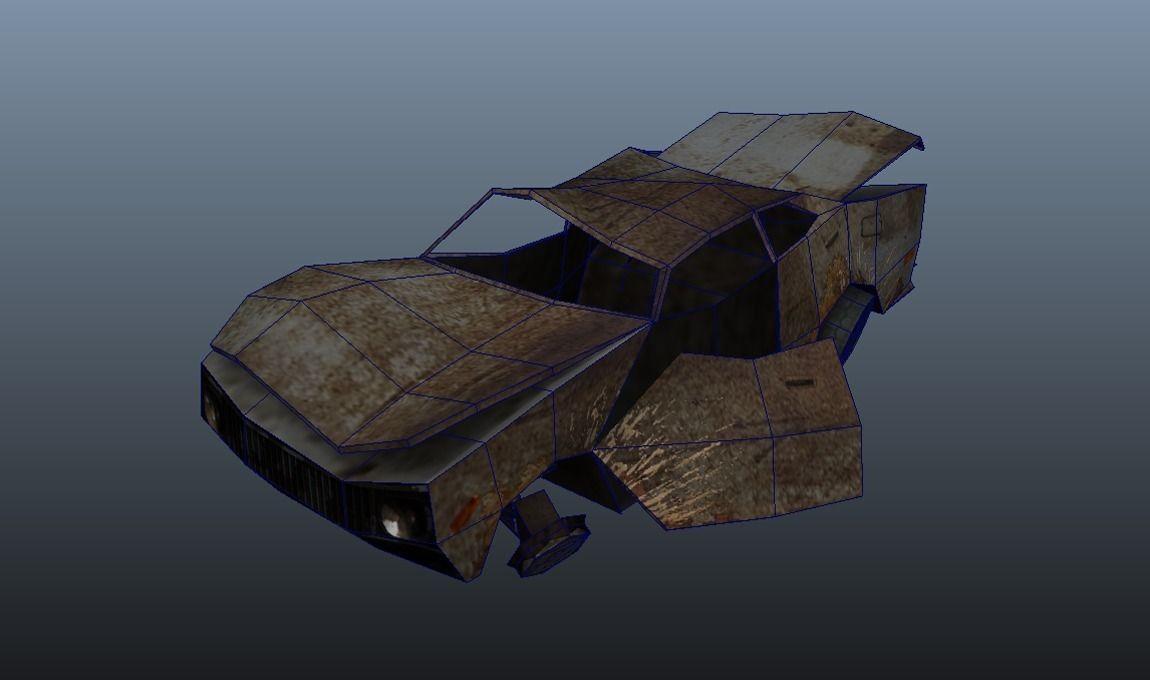 3d Asset Wreck Car Cgtrader