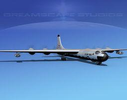 3d convair b-36g peacemaker v06 animated
