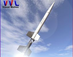 Aerobee 100 Rocket 3D model