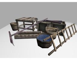 medieval props pack 3d model realtime