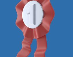 Ribbon or badge or medal or award 3D