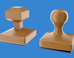 Rubber stamp 3D asset