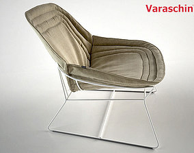 Chapeau armchair by Varaschin 3D model