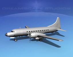 Convair C-131 Bare Metal 3D model