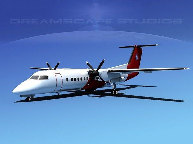 dehavilland dhc-8-q300 australia customs 3d model max obj 3ds lwo lw lws dxf stl 1