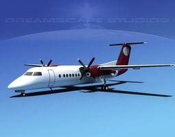 3D DeHavilland DHC-8-Q300 Petro Air