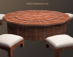 arabic furniture table 3d