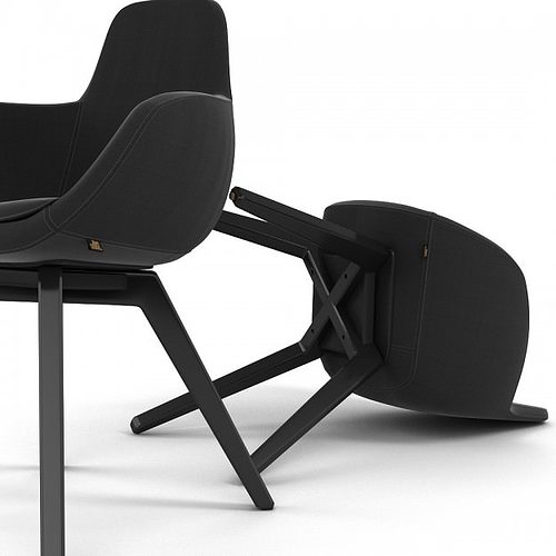 scoop chair 3d model max 1