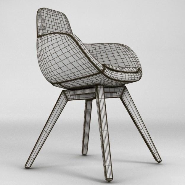 ... Scoop Chair 3d Model Max 5 ...
