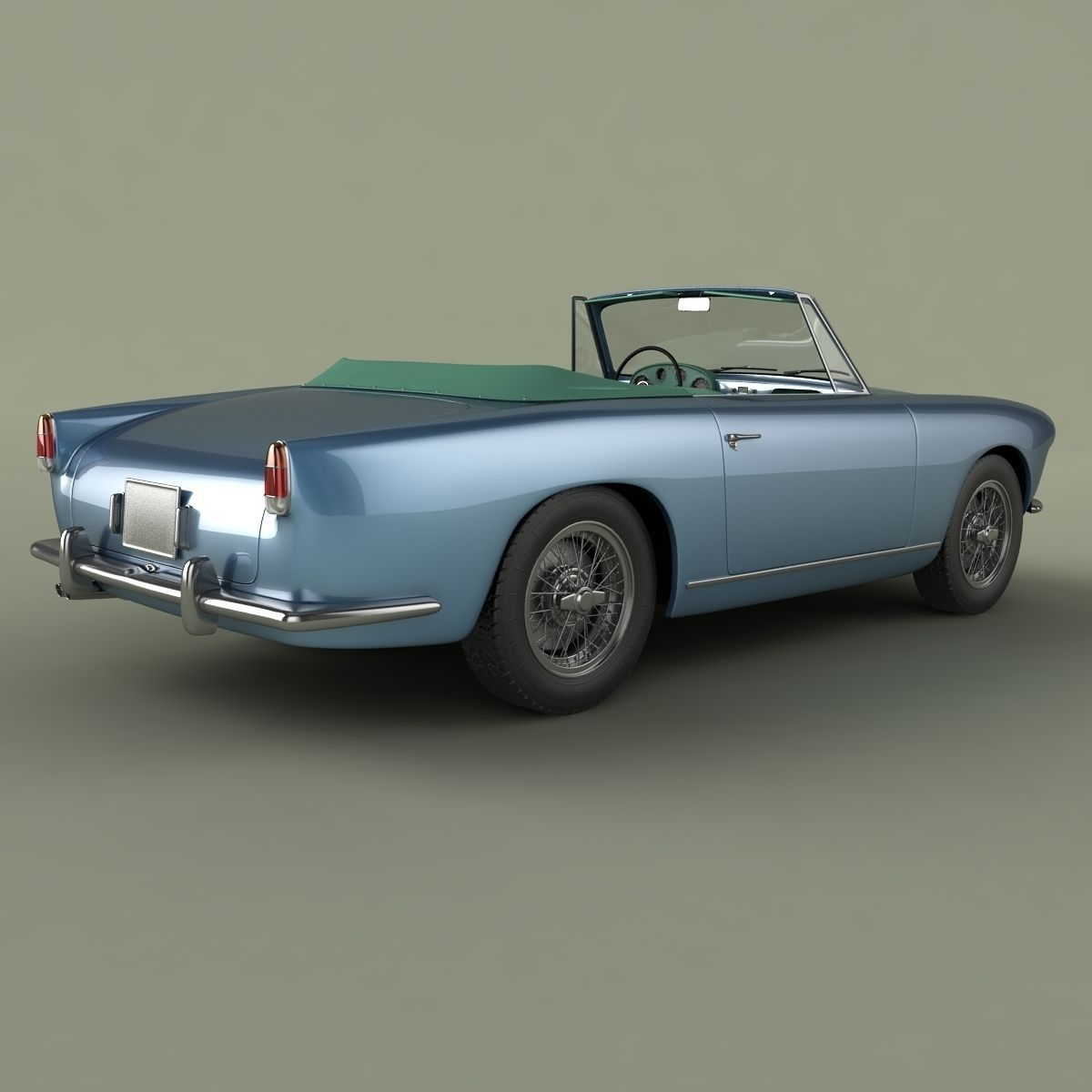 alfa romeo 1900 ss cabrio 3d model max obj 3ds. Black Bedroom Furniture Sets. Home Design Ideas