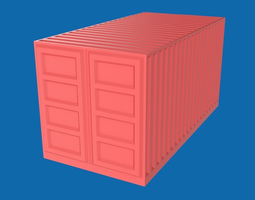 3d model low-poly shipping container