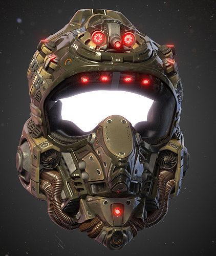 helmet kepler-22b 3d model obj fbx blend 1