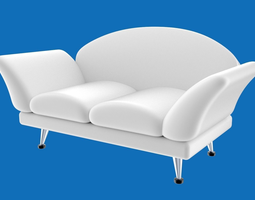 3d model sofa stylized or cartoony