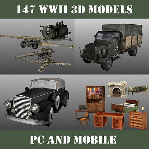 wwii model pack 3d model obj mtl 1