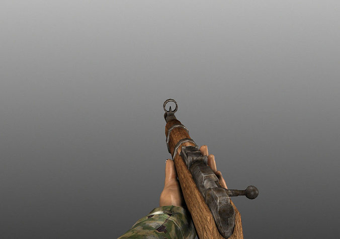 wwii animated weapons and arms 3d model fbx tga 1