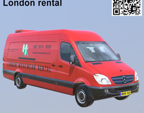 Mercedes benz Sprinter London rental Extra long 3D asset
