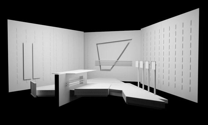 Tv Set Design 3d Model Cgtrader