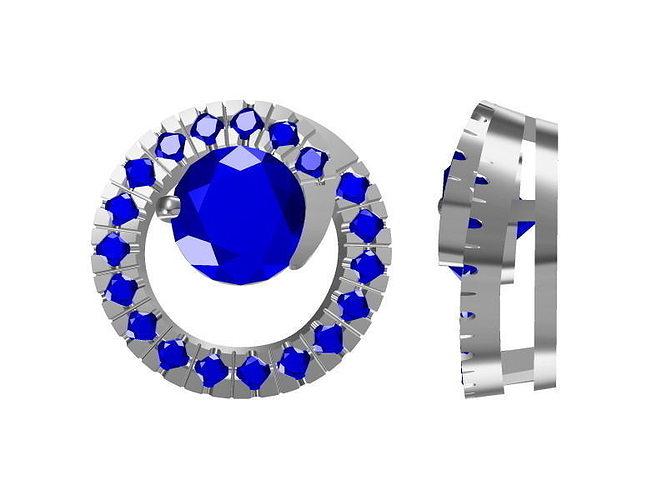diamond pendant 0923 3d model jcad jcd 1