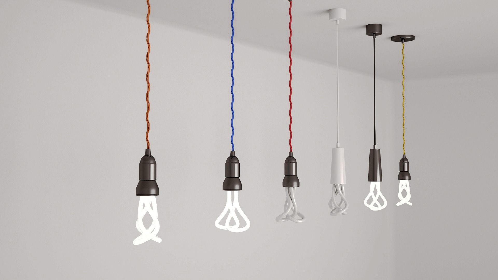 light bulb pendant concrete pendant light bulbs 3d model max obj mtl fbx 3d pendant light cgtrader