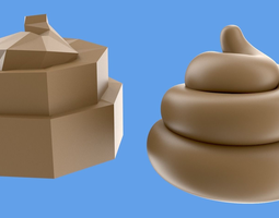 3d model VR / AR ready turd or poop